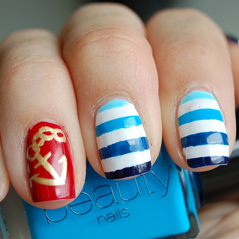 sailor nail art featured
