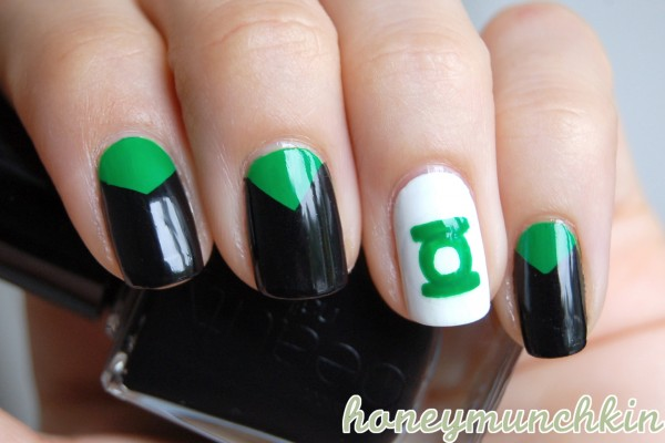 Dc superhero nail art series green lantern honeymunchkin dc superhero nail art series green lantern prinsesfo Gallery