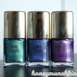 Swatches of H&amp;M &#8211; Fantasy Ocean, Deep Deep Water &amp; Purple Flash