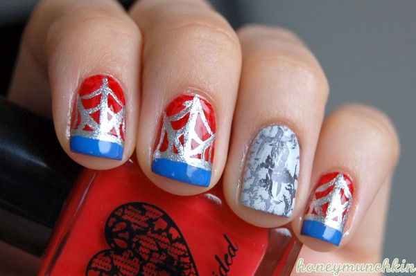 Marvel avengers nail art series spider man honeymunchkin marvel avengers nail art series spider man prinsesfo Choice Image