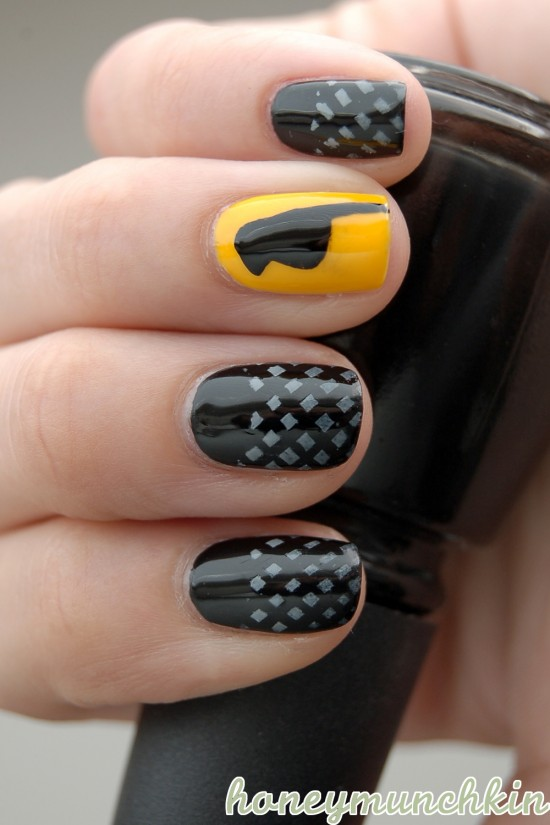 DC Superhero Nail Art Series – Black Canary – honeymunchkin