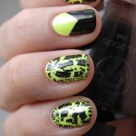 Neon yellow with black shatter