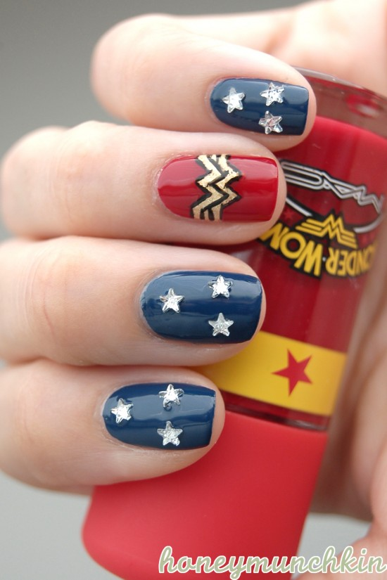 Dc superhero nail art series wonder woman honeymunchkin dc superhero nail art series wonder woman prinsesfo Gallery