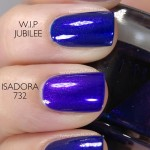 Comparison of W.I.P – Jubilee & IsaDora – 732 Papagayo Blue