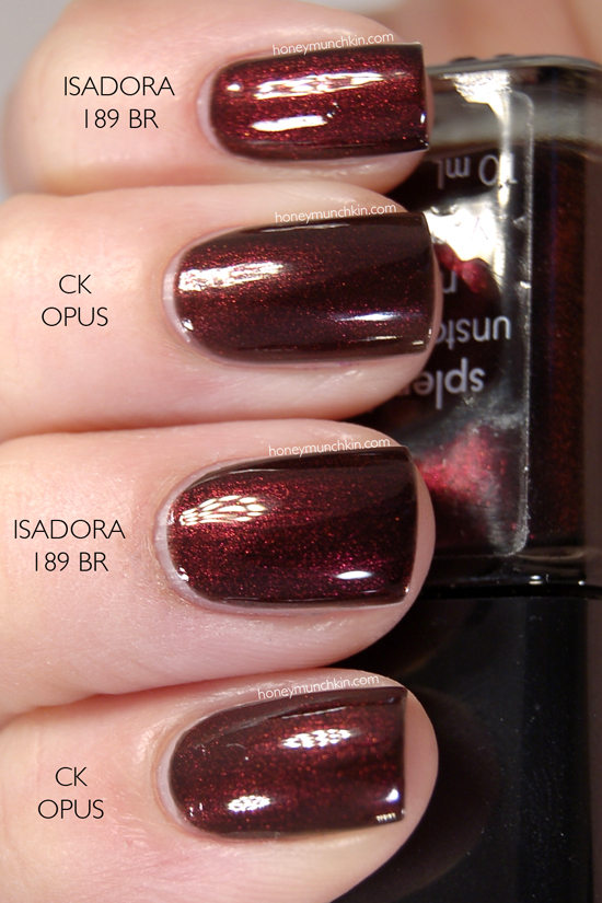 Calvin Klein - Opus & IsaDora - 189 Black Rose nails