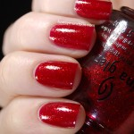 Swatch of China Glaze – Ruby Pumps