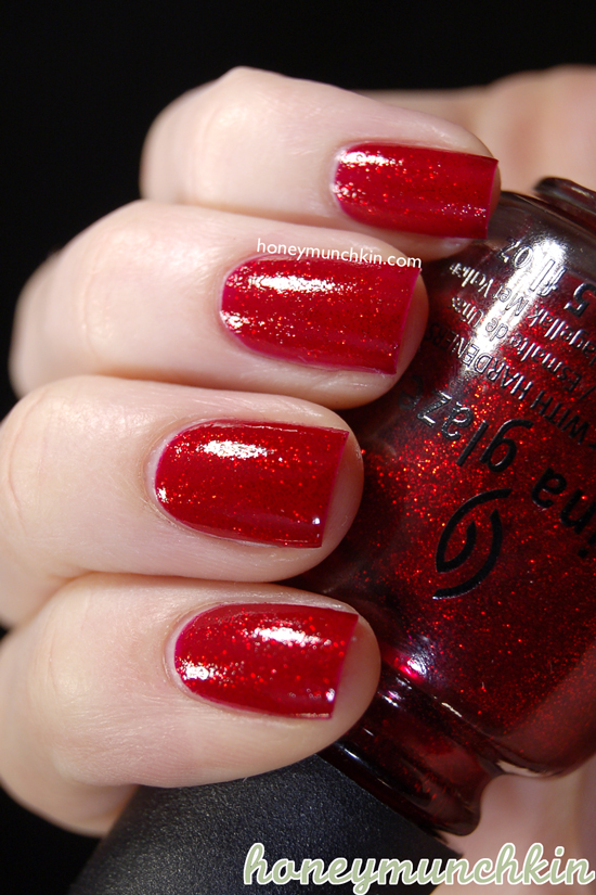 China Glaze - Ruby Pumps from honeymunchkin.com