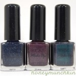 Swatches of KICKS Make Up &#8211; New Year Sky, Crushed Amethyst &amp; Party Peacock