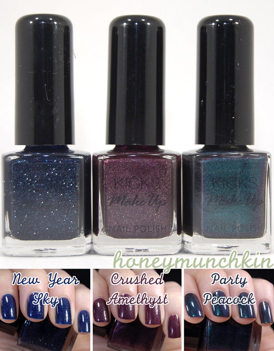 KICKS Make Up - New Year Sky, Crushed Amethyst & Party Peacock Cover