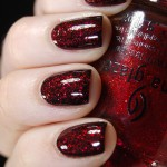 Layering: W7 – 28 Black, OPI – Stay the Night & China Glaze – Ruby Pumps