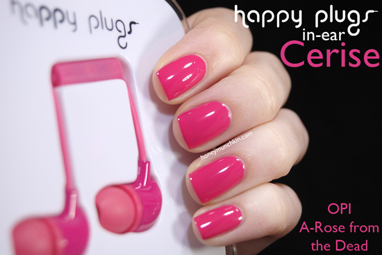 Happy Plugs In-ear Cerise from honeymunchkin.com