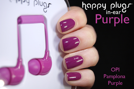 Happy Plugs In-ear Purple from honeymunchkin.com