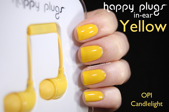 Happy Plugs In-ear Yellow from honeymunchkin.com