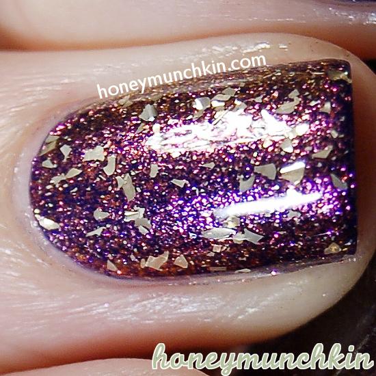 Layering: Mac - Spirit of Truth, W.I.P - Galaxy & NYX Girls Gilded Glitter by honeymunchkin.com