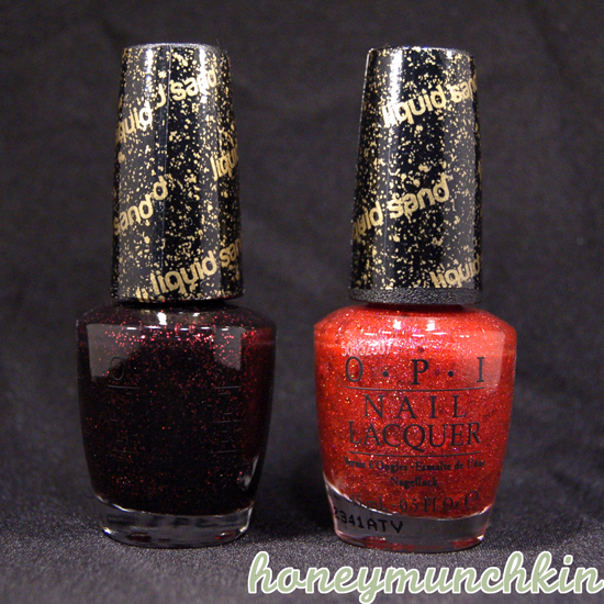 OPI Liquid Sand - Stay the Night &amp; The Impossible