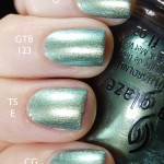 Comparison of China Glaze &#8211; Unpredictable, Topshop &#8211; Eclipse &amp; Gina Tricot Beauty &#8211; 123 Blue Bug