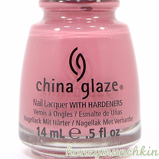 China Glaze - Life Is Rosy bottle detail