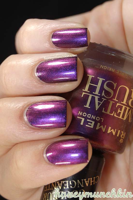 Rimmel Metal Rush - 80 Purple Reign on black from honeymunchkin.com