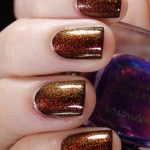 Layering: W7 – 28 Black, China Glaze – Ruby Pumps & Max Factor – 45 Fantasy Fire