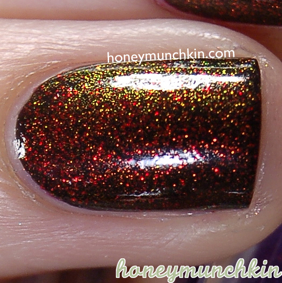 Layering with W7 - 28 Black, China Glaze - Ruby Pumps & Max Factor - 45 Fantasy Fire by honeymunchkin.com