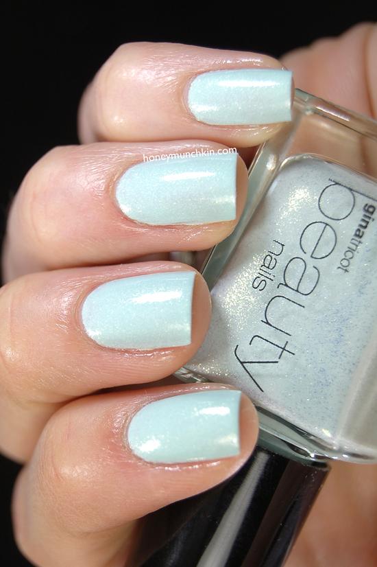 Gina Tricot Beauty - 130 Shimmer Mint from honeymunchkin.com