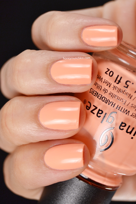 China Glaze - Sun of a Peach from honeymunchkin.com