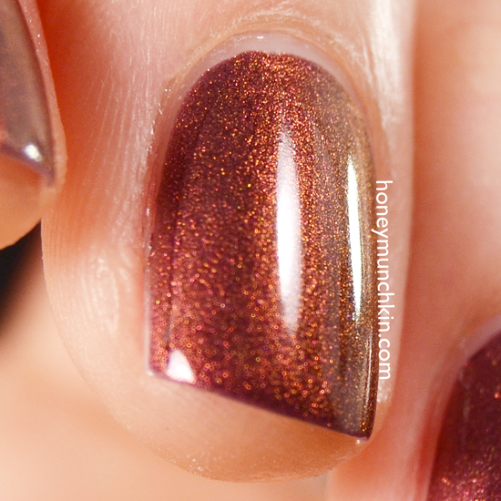 Swatch of Gina Tricot Beauty - 167 Shimmer Fudge by honeymunchkin.com
