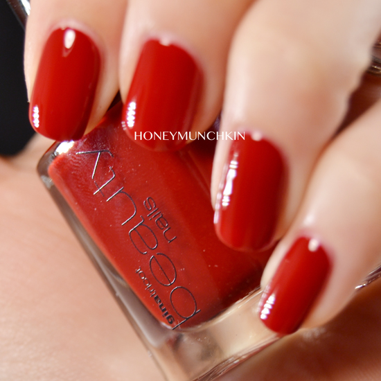 Swatch of Gina Tricot Beauty - 161 Classy Red by honeymunchkin.com