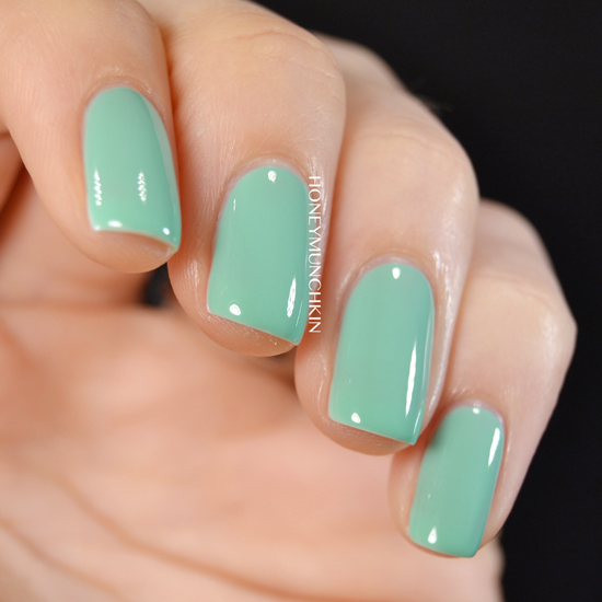 Swatch of Gina Tricot Beauty - 173 Green Mint by honeymunchkin.com