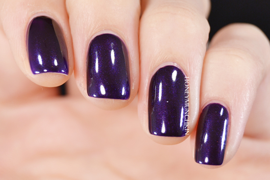Swatch of Gina Tricot Beauty - 159 Purple Nights by honeymunchkin.com