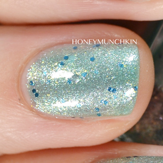 Swatch of Gina Tricot Beauty - 182 Turquoise Dust by honeymunchkin.com
