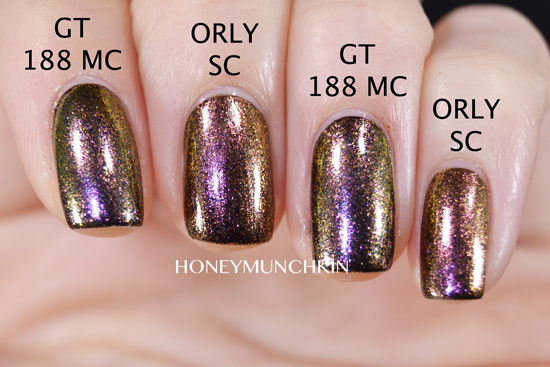 Comparison of Gina Tricot Beauty - 188 Million Chances and ORLY - Space Cadet by honeymunchkin.com