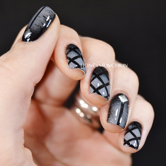 Ultra Brutal Technical Death Metal nail art by honeymunchkin.com - Nail Art: Ultra Brutal Technical Death Metal – Honeymunchkin