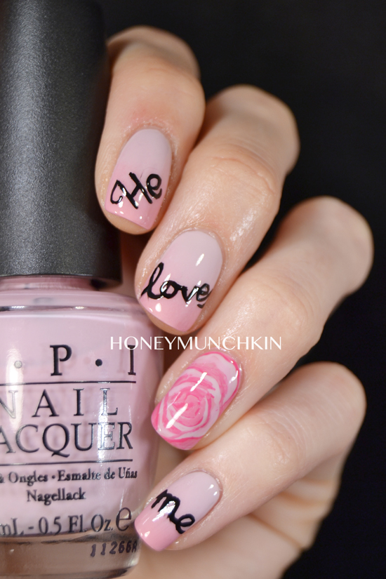 Nail art Valentine's by honeymunchkin.com
