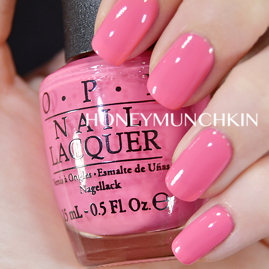 Swatch of OPI - Elephantastic Pink by honeymunchkin.com
