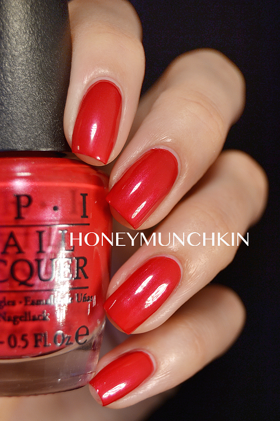 Swatch of OPI - OPI Red by honeymunchkin.com