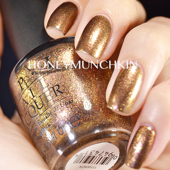 Swatch of OPI - Warm & Fozzie by honeymunchkin.com