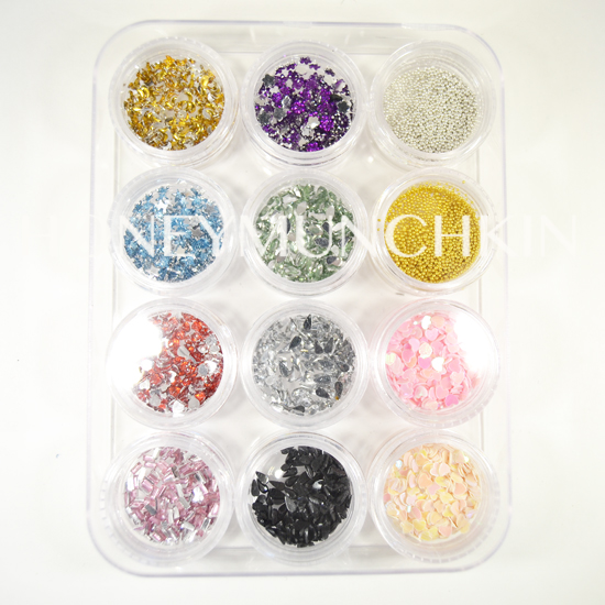 Review of 12 jars of nail art decorations from Sammydress.com by honeymunchkin.com