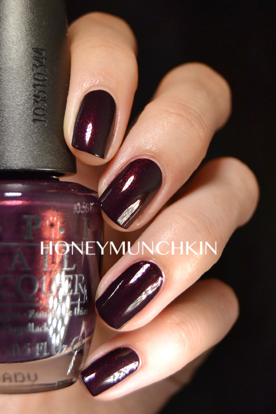 Swatch Of OPI Black Cherry Chutney