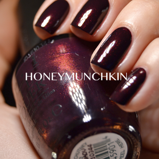 Swatch of OPI - Black Cherry Chutney by honeymunchkin.com