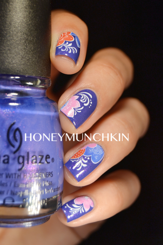 Review of flower water decals (G080) from BornPrettyStore.com by honeymunchkin.com