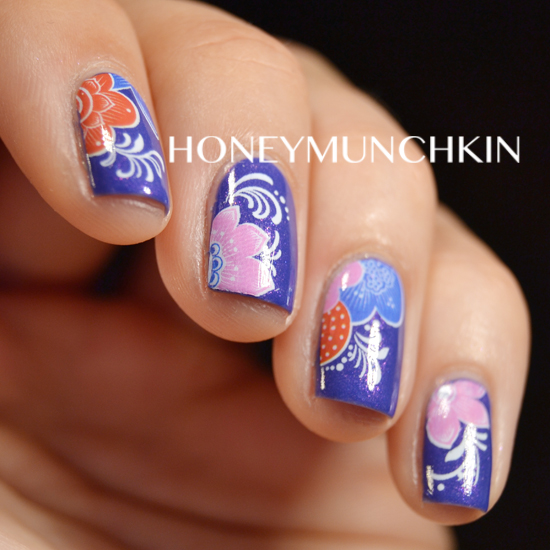 Review of lotus flower water decals (G080) from BornPrettyStore.com by honeymunchkin.com