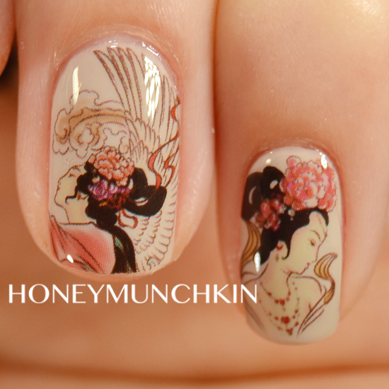 Review of Traditional Chinese Painting water decals from BornPrettyStore.com by honeymunchkin.com
