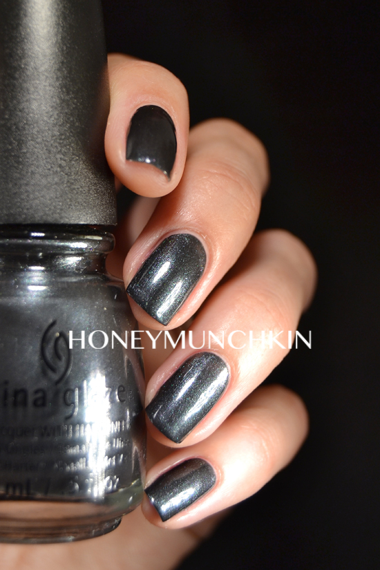 Swatch of China Glaze - Black Diamond by honeymunchkin.com