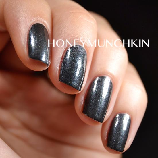 Swatch of China Glaze - Black Diamond by honeymunchkin.com