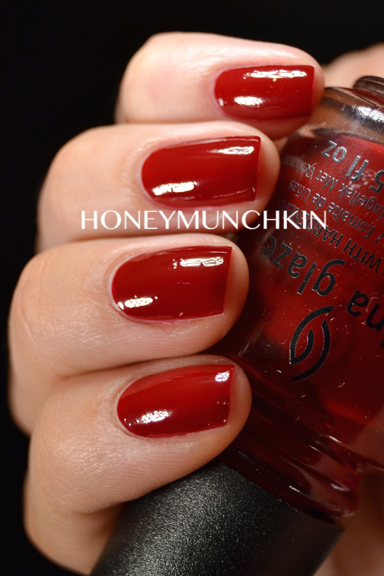 Swatch of China Glaze - Drastic by honeymunchkin.com