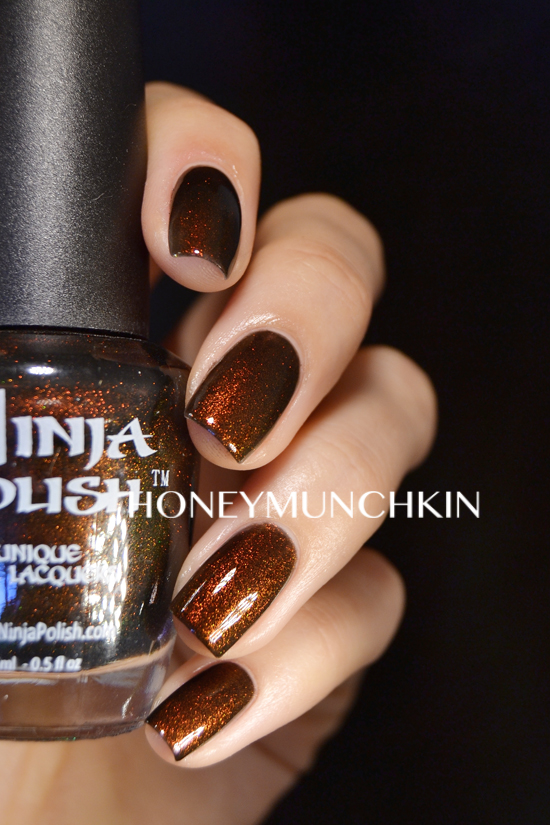 Swatch of Ninja Polish - 100% Colombian by honeymunchkin.com