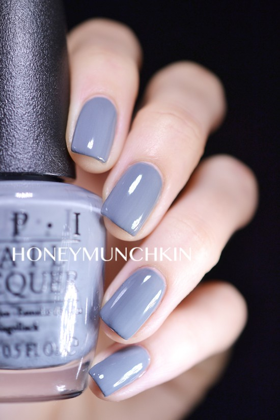Swatch of OPI - Embrace the Grey from 50 Shades of Grey Collection by honeymunchkin.com