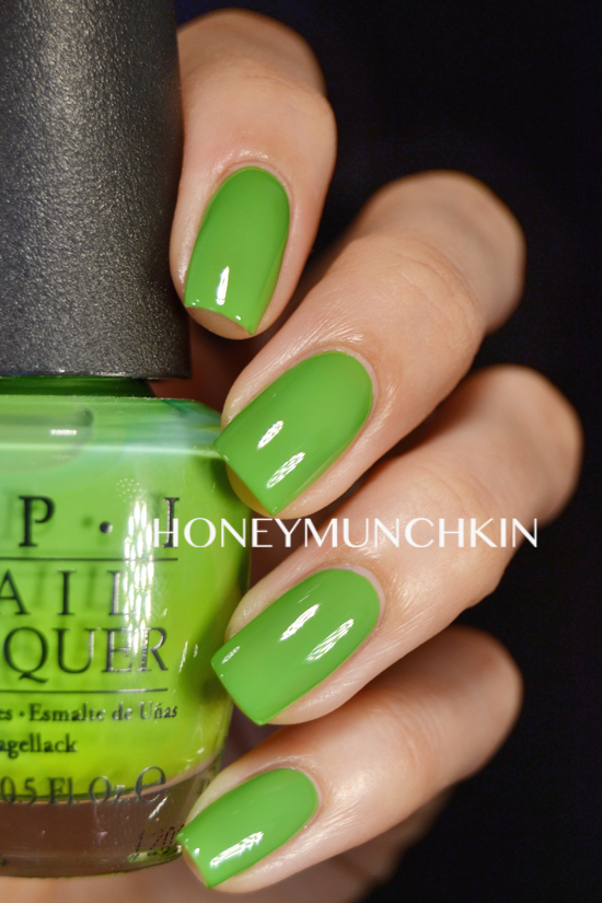 Swatch Of Opi Green Wich Village Honeymunchkin